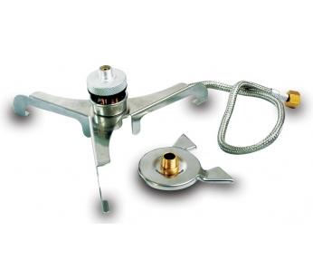 Переходник STAND под газовый балонАксессуары<br>Переходник STAND под газовый балон<br>STAND - универсальный, компактный&amp;nbsp; переходник&amp;nbsp; <br>с удлиненным шлангом под&amp;nbsp; газовый баллон <br>с цанговым клапаном. Очень устойчивый в <br>разложенном состоянии, что позволяет его <br>использование с посудой больших размеров. <br>В сложенном состоянии&amp;nbsp; имеет минимальные <br>размеры.<br>