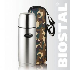 Термос Biostal Охота NBP-750В 0,75л (узк. горло, Термосы<br>Легкий и прочный Сохраняет напитки горячими <br>или холодными долгое время Изготовлен из <br>высококачественной нержавеющей стали С <br>крышкой-чашкой и чехлом для хранения и переноски <br>термоса С дополнительной теплоизоляцией <br>внутри пробки Гарантия на термос 1 год. Характеристики: <br>Артикул: NBP-750В Объем: 0,75 литра Высота: 25,6 <br>см Диаметр: 8 см Вес: 570 грамм Размеры упаковки: <br>9,2см х 9,2см х 28,1см Термос с узким горлом NBP-750В <br>ТМ «BIOSTAL» относится к серии «ОХОТА». Термосы <br>этой серии пользуются большой популярностью <br>у любителей охоты и рыбалки, так как они, <br>сохраняя прочность и термоустойчивость, <br>легки и компактны. Термос предназначен <br>для хранения горячих и холодных напитков <br>(чая, кофе и пр.) и продается в удобном чехле <br>из прочной камуфляжной ткани.<br>
