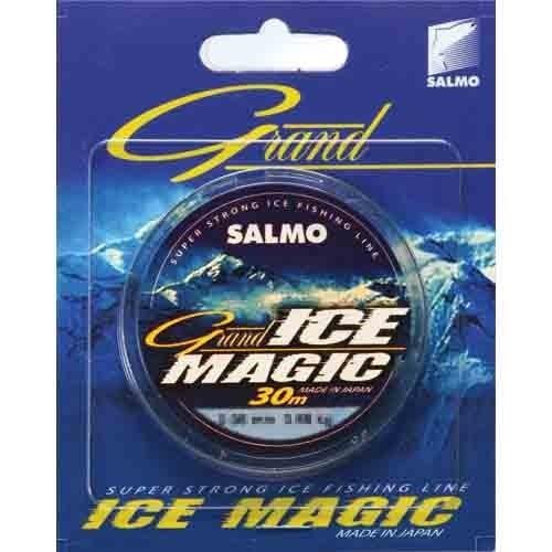 Леска Монофильная Зимняя Salmo Grand Ice Magic 030/020Леска монофильная<br>Леска моно. зим. Salmo Grand ICE MAGIC 030/020 дл.30м/д.0.20мм/вес4.68кг/цв.прозр./инд.уп. <br>Современная монофильная леска. Изготовленная <br>в Японии с использованием самого высококачественного <br>сырья и новейших технологий, она не теряет <br>свою прочность и эластичность даже при <br>-50 градусном морозе • высочайшая прочность <br>• высокая износо стойкость • отсутствие <br>«памяти» • идеально калиброванная, гладкая <br>поверхность<br><br>Сезон: зима<br>Цвет: прозрачный