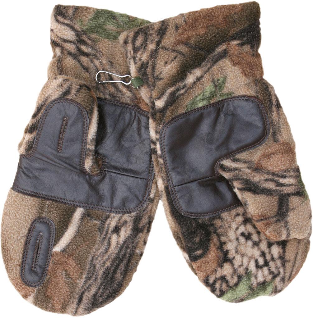 Варежки охотника ХСН флис-кожа (735-2) (Лес, Варежки<br>Модель предназначена специально для охотников. <br>Конструкция позволяет стрелять из оружия, <br>не снимая их.<br><br>Размер: M-L<br>Сезон: зима<br>Материал: флис