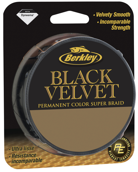 Леска плетеная BERKLEY VELVET 0.14mm (137m)(15.9kg)(черная)Леска плетеная<br>Новый плетеный шнур с превосходными характеристиками. <br>Оптимальное количество волокон и стойкое <br>окрашивание. Цвет не блекнет со временем! <br>Самый гладкий из шнуров Berkley. Высокая разрывная <br>нагрузка и мягкость.<br>