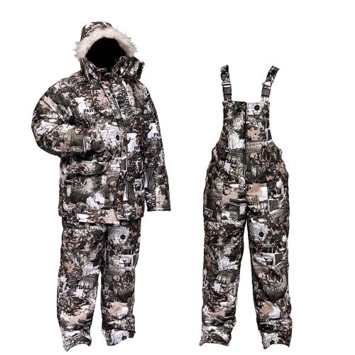 Костюм мужской Тайга зимний, подклад фольгированный, Костюмы утепленные<br>Мужской зимний костюм для низких температур. <br>Современная креативная расцветка «зимний <br>Paintball» позволяет использовать костюм как <br>в городе, так и на природе. Температурный <br>режим до -35С. Ткань верха - мембрана - пароотводящая. <br>непромокаемая. Костюм выполнен из куртки <br>и высокого полукомбинезона. Костюм так <br>же пригоден для использования охотниками. <br>т.к. ткань не шуршит. Куртка на двухзамковой <br>молнии с ветрозащитной планкой. Подкладка <br>Taffeta Omni-Heat. Технология температурной регуляции <br>Omni-Heat отражает и сохраняет собственное <br>тепло человека на 20% больше. отражая его <br>с помощью серебристых точек. и в тоже время <br>отводит излишнее тепло и влагу. Капюшон <br>пристёгивается кнопками. имеет утяжку и <br>защитный клапан на липучке. Куртка имеет <br>2 больших внешних кармана на талии. а также <br>2 прорезных кармана на груди (на кнопке) <br>и 1 внутренний карман. На рукавах есть внутренняя <br>манжета. Куртка имеет утяжку по талии. Полукомбинезон <br>на молнии. 2 кармана на бёдрах. 1 карман на <br>липучке расположен на груди. Внизу полукомбинезона <br>имеется расширение на молнии.<br><br>Пол: мужской<br>Размер: 52-54<br>Рост: 182-188<br>Сезон: зима<br>Цвет: серый<br>Материал: мембрана
