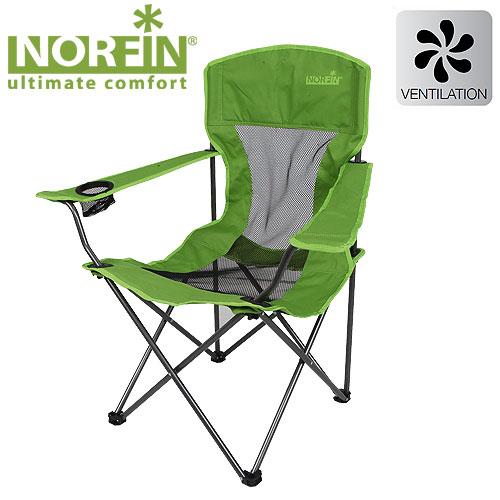 Кресло Складное Norfin Raisio NfСтулья, кресла<br>Складное кресло - прекрасный выбор для <br>ценящих комфорт рыбаков. Спинка выполнена <br>из прочной сетчатой ткани, что обеспечит <br>ком форт в жаркую погоду. Есть подстаканник <br>в подлокотнике. Особенности: - габариты <br>54x42x43/95 см; - размер в сложенном виде 23x22x93 <br>см; - максимальная нагрузка 100 кг; - каркас <br>сталь 16 мм.<br><br>Сезон: лето<br>Цвет: зеленый<br>Материал: 600D polyester