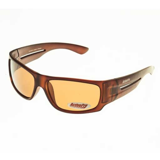 Очки поляризационные ActivePro Коричневые Очки для активного отдыха<br>Свойства цвет вставки: коричневый цвет <br>линзы: коричневый цвет оправы: матовый коричневый <br>поляризация: Cat. 3 материал : пластик Описание <br>Поляризационные очки отфильтровывают UV <br>лучи, уменьшают поток света, попадающего <br>на сетчатку, тем самым защищая глаза. Поглощая <br>блики солнечных лучей, очки позволяют видеть <br>рыбу и дно водоема. Коричневые линзы - универсальные, <br>они лучше всего подходят для постоянного <br>использования, потому что сохраняют естественную <br>цветопередачу, просто снижая суммарное <br>количество видимого цвета, повышая при <br>этом контрастность<br>