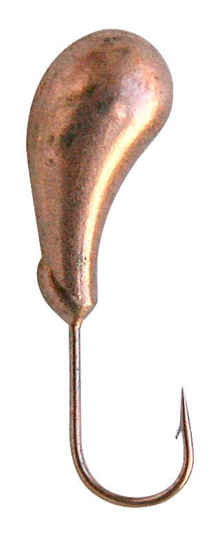Морм. Вольф.Dixxon-Rus чесночинка с отверстием Мормышки<br>Мормышка вольфрамовая для подледной ловли. <br>Крючок - FUDO (Япония) Вес - 0,80 г Цвет - медь<br>