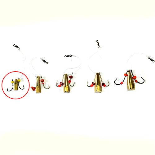 Мормышка Латунная Балда Бисер №4Мормышки, джиг-головки зимние<br>Мормышка латун. БАЛДА бисер №4 диам. 4мм/матер. <br>латунь/кр.№8/кол.в уп.10шт Балда – традиционно <br>русская снасточка-приманка предназначенная <br>для ловли рыбы в зимнее время со льда. Уникальность <br>и уловистость данной приманки состоит в <br>том, что ее игра в воде очень схожа с реальными <br>движениями личинки стрекозы. А как известно, <br>личинка стрекозы любимое лакомство таких <br>рыб как окунь, лещ, плотва и др. Соответственно <br>трофеями рыболовов при ловле на «балду» <br>становятся практически все рыбы водоема. <br>Производится данная приманка из полированного <br>латунного прутка диаметром 4, 5, 6, 7 и 8 мм. <br>Ассортимент выражен 5 размерами № 4 (диаметр <br>прутка 4 мм, крючок №8), № 5 (диаметр прутка <br>5 мм, крючок №7), № 6 (диаметр прутка 6 мм, крючок <br>№6), № 7 (диаметр прутка 7 мм, крючок №5), № <br>8 (диаметр прутка 8 мм, крючок №4). Крючки <br>по европейской классификации.На крючках, <br>имитирующих лапки насекомого, применяется <br>подсадка таких игровых акустических элементов <br>как латунный шарик, паетка, кембрик и бисер. <br>Каждое изделие упаковано в пло<br><br>Сезон: Зимний<br>Материал: Латунь