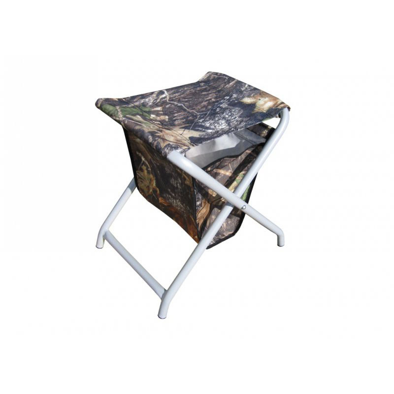 Стульчик рыболова ТОНАР СРС-400 (с сумкой)Стулья, кресла<br>Складной стульчик объединил преимущества <br>рамных конструкций и стульчика на ножках. <br>Попарное соединение ножек ребрами жесткости <br>дает стульчику высокую механическую прочность, <br>ограничивает погружение в песок, мягкий <br>грунт, снег, но при этом сохраняется жесткая <br>фиксация стульчика с поверхностью – он <br>не скользит по льду, надежно удерживается <br>на наклонных берегах. При этом стульчик <br>остается легким и удобным в транспортировке. <br>Диаметр трубки стульчика - 19 мм, толщина <br>стенки трубки - 1,5 мм. Ткань - Oxford 600D - высокопрочная <br>ткань с нанесенным полиуретановым покрытием, <br>которое обеспечивает водоотталкивающие <br>свойства и препятствует накоплению грязи <br>между волокнами. Высота стульчика 400 мм. <br>Модификация с сумкой. К лицевой стороне <br>сумки также пришит вместительный карман <br>для хранения зимних удочек, кормушек, прочих <br>снастей. Карман закрывается клапаном на <br>липучке. Сумка легко снимается со стульчика <br>для стирки. Сумка и сиденье изготовлены <br>из современного высокопрочного материала, <br>практически не подверженного износу, к <br>тому же легкого и быстросохнущего.<br>