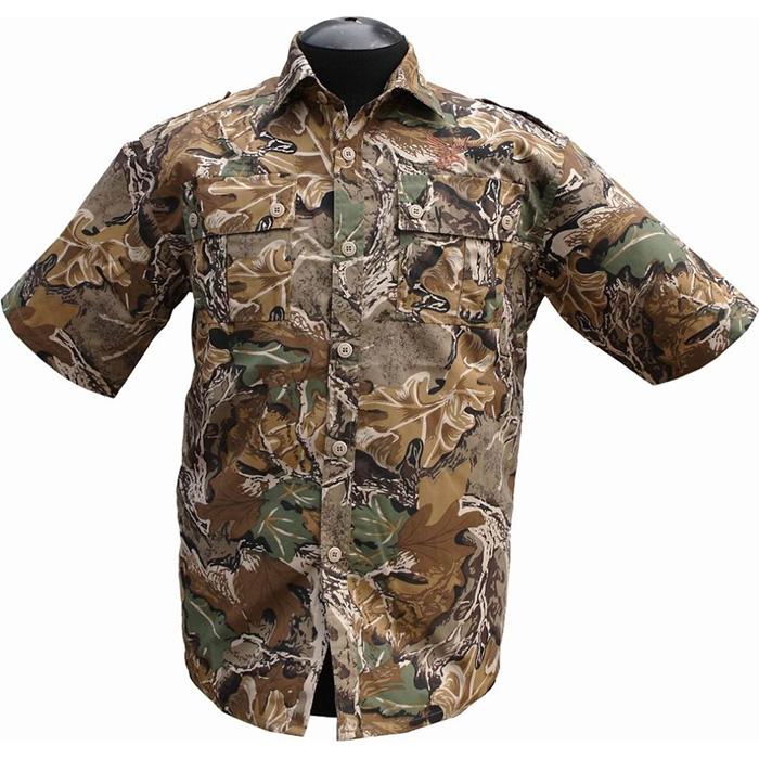 Рубашка ХСН Фазан короткий рукав (9456-1) Рубашки к/рукав<br>Рубашка мужская прекрасно подойдет для <br>ношения летом. На рубашке нашиты накладные <br>карманы. Для защиты от влаги материал обработан <br>водоотталкивающей пропиткой.<br><br>Пол: мужской<br>Размер: 54/170-176<br>Сезон: лето<br>Цвет: коричневый<br>Материал: 95% хлопок, 5% спандекс