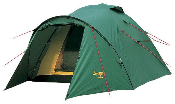 Палатка Canadian Camper KARIBU 4 (цвет forest дуги 9,5 мм)Палатки<br>Особенности: - увеличенный тамбур; - два <br>входа; - антимоскитные сетки; - большие вентиляционные <br>отверстия.<br><br>Сезон: лето
