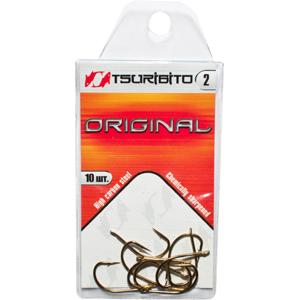 Крючки рыболовные Tsuribito Original №2 (в упак. Одноподдевные<br><br>
