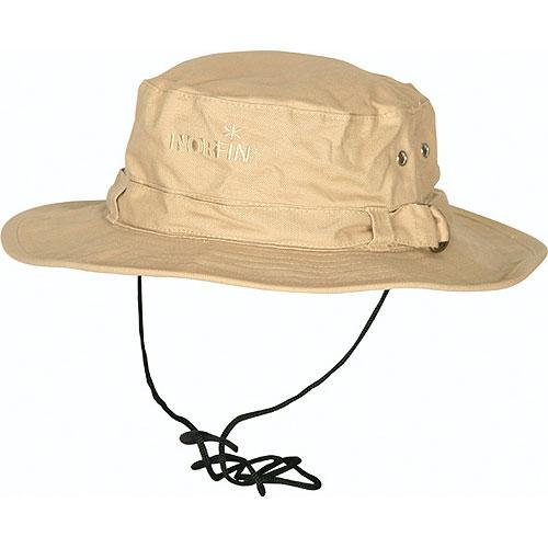 Шляпа Norfin Мат.хлоп.Хлопоковая шляпа отлично защитит от солнца <br>в летний день. Особенности: - регулируемая <br>металическая застежка сзади; - вентиляционные <br>отверстия; - защитный шнурок от ветра; - натуральный <br>материал.<br><br>Пол: унисекс<br>Сезон: лето<br>Цвет: бежевый<br>Материал: текстиль
