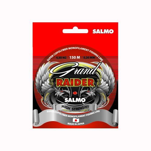 Леска Монофильная Salmo Grand Raider 150/028Леска монофильная<br>Леска моно. Salmo Grand RAIDER 150/028 дл.150м/диам.0.28мм/тест <br>8.4кг/инд.уп. Современная монофильная леска, <br>изготовленная из высококачественного нейлона. <br>Изготовляется на специализированном заводе <br>в Японии. Мягкая, прозрачная леска с небольшим <br>коэффициентом растяжения, что обеспечивает <br>ее высокую чувствительность и необходимую <br>эластичность. Разматывается на шпули по <br>30 и 150 метров. Леска всесезонного использования, <br>очень устойчива к ультрафиолетовому излучению. <br>• высокая прочность • высокая износостойкость <br>• идеально калиброванная • гладкая и скользкая <br>поверхность • низкая остаточная «память» <br>• бесцветная леска • хорошо «держит» узел<br><br>Сезон: все сезоны<br>Цвет: прозрачный