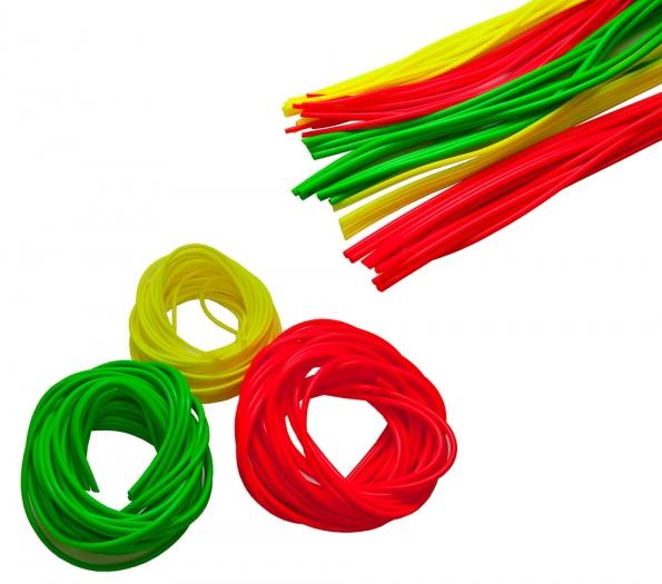 Кембрик флюор. d 0,8х1,5мм красный 1м (10шт.) Термотрубки, кембрики<br>С помощью кембриков поплавок крепится <br>к леске, при изготовлении и усовершенствовании <br>различных мормышек, мушек, чертиков, и т.д., <br>также кембрики и термоусадка используется <br>для изготовления донных монтажей. Внутренний <br>диаметр - 0.8мм наружный диаметр - 1.5мм. Цвет <br>красный<br>