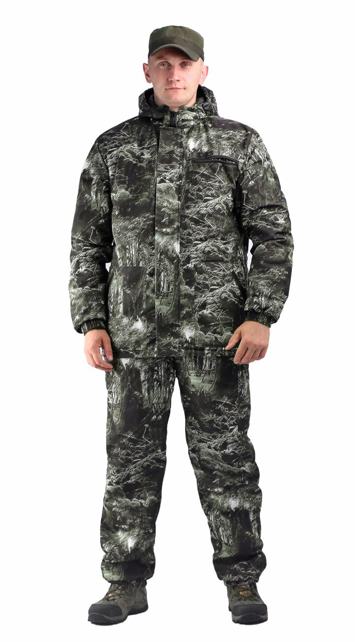 Костюм мужской Турист 1 демисезонный, Костюмы утепленные<br>Камуфлированный унверсальный летний костюм <br>для охоты, рыбалки и активного отдыха . Состоит <br>из куртки с капюшоном и брюк. Куртка: • Регулируемый <br>капюшон. • Центральная застежка молния. <br>• Боковые и нагрудный прорезные карманы <br>на молнии. • Низ куртки и манжеты на резинке. <br>Брюки: • Два врезных кармана и два накладных <br>на молнии. • Пояс и низ брюк на резинке.<br><br>Пол: мужской<br>Размер: 60-62<br>Рост: 170-176<br>Сезон: демисезонный