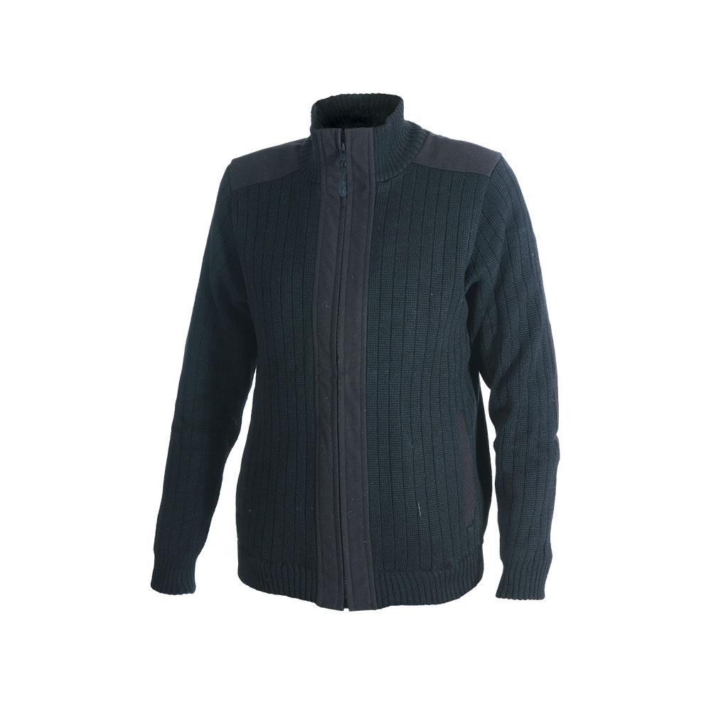 Куртка ХСН трикотажная (Черный, 52/176, 713)Джемпера<br>Куртка выполнена из пряжи-двунитки плотным <br>комбинированным переплетением. Изделие <br>хорошо защищают организм человека от холода. <br>Особенности: - застегивается на молнию; <br>- высокий воротник; - 2 кармана; - выполнена <br>из пряжи-двунитки плотным комбинированным <br>переплетением; - эластичные манжеты и низ; <br>- тканевые вставки для длительного ношения.<br><br>Пол: мужской<br>Размер: 52/176<br>Сезон: все сезоны<br>Цвет: черный<br>Материал: 30% шерсть, 70% синтетика