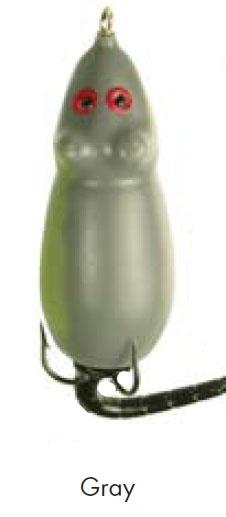 Мышь толстая MANNS 10,5 гр., серый (1шт.)Мягкие и съедобные<br>По предназначению схожи с лягушками. Приманка <br>позволяет облавливать верхние слои воды. <br>Ориентирована на поверхностных хищников <br>– щук, ленка, тайменя.<br>