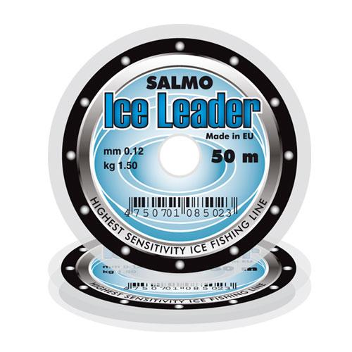 Леска Монофильная Зимняя Salmo Ice Leader 050/008Леска монофильная<br>Леска моно. зим. Salmo ICE LEADER 050/008 дл.50м/д.0.08мм/вес0.70кг/прозрач./инд.уп. <br>Современная зимняя леска изготовленная <br>в EU. Мягкая леска обладает разумным соотношением <br>эластичности и прочности, что ставит её <br>в разряд самых востребованных зимних лесок.<br><br>Сезон: зима<br>Цвет: прозрачный