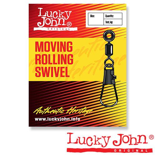 Вертлюги C Застежкой Lh Скольз. Lucky John Moving • Rolling And Interlock 00S 10Шт. LJ5054-00S