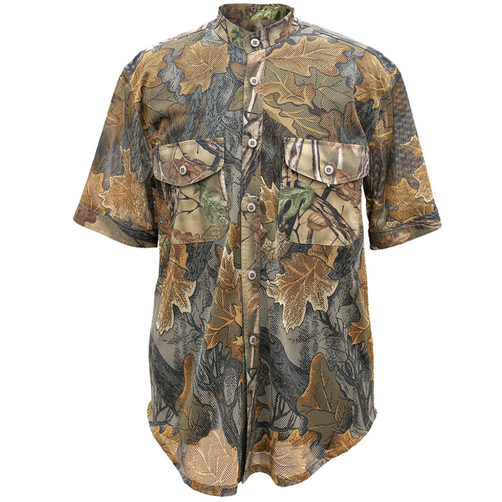 Рубашка «Таежный стиль» летняя (964-2) (Дубок, Рубашки к/рукав<br>Рубашка мужская подойдет для ношения летом. <br>На рубашке нашиты накладные карманы. Изготовлена <br>из полиэстера и хлопчатобумажной ткани. <br>Отлично вентилируется, не впитывает влагу.<br><br>Пол: мужской<br>Размер: 46 - 48 / 170<br>Сезон: лето<br>Цвет: коричневый<br>Материал: Сетка (твил)