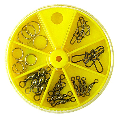 Вертлюги. Застежки. Кольца Заводные Lucky Вертлюги<br>Вертлюги. застежки. кольца заводные Lucky <br>John 28шт. набор кол. в сектор-коробке (28 шт) <br>Ни одна рыболовная оснастка не обходится <br>без этих необходимых мелочей. Если не применять <br>эти связующие элементы или использовать <br>их сомнительного качества, рыбалка наверняка <br>будет испорчена. Ведь в подавляющем большинстве <br>случаев, на рыбалке эти мелочи просто необходимы! <br>С их помощью можно предотвратить закручивание <br>и запутывание лески, привязать подвижный <br>отводной поводок, быстро поменять воблер <br>или блесну на спиннинге. Представленная <br>группа, состоящая из застежек, вертлюжков-застежек, <br>вертлюжков и заводных колец, изготовлена <br>на специализированном заводе. Поэтому, <br>любое из этих изделий соответствует рыболовным <br>параметрам, указанным на упаковке.<br><br>Сезон: Летний