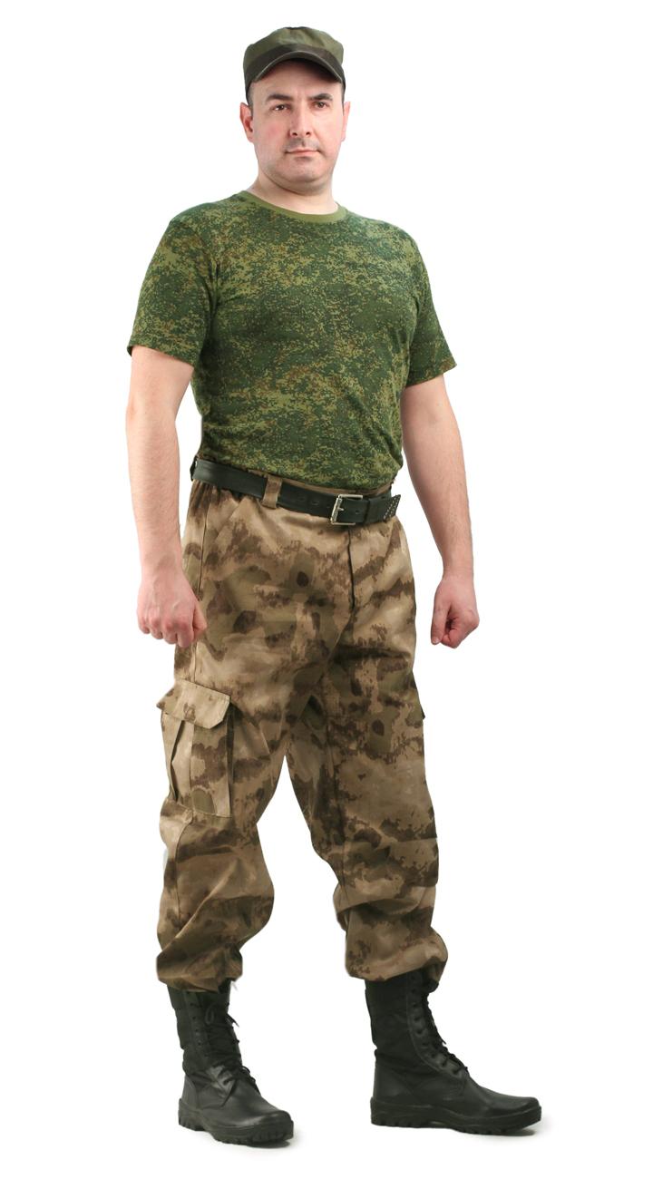 Брюки мужские Захват кмф тк. грета бежевые Брюки неутепленные<br><br><br>Пол: мужской<br>Сезон: лето<br>Цвет: бежевый<br>Материал: Смесовая, пл. 210 г/м2,