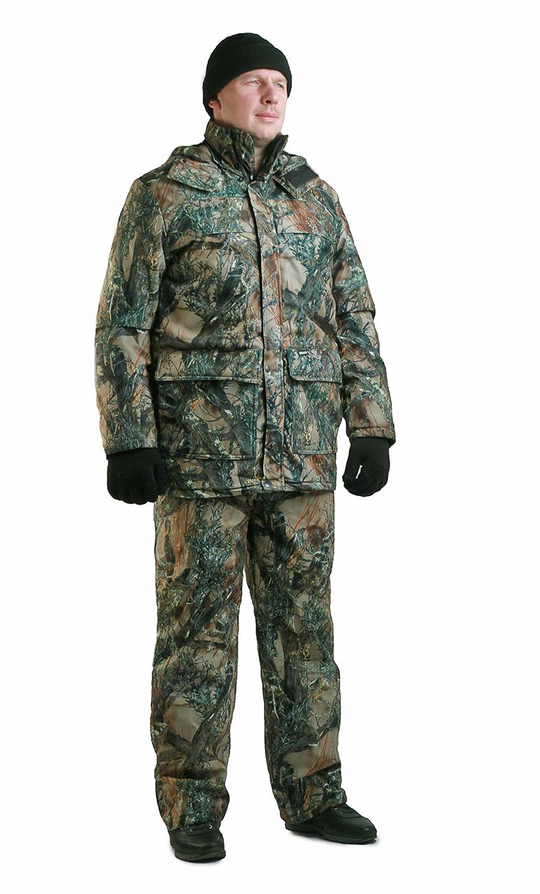 Костюм мужской Вепрь демисезонный кмф Костюмы утепленные<br>Камуфлированный универсальный демисезонный <br>костюм для охоты, рыбалки и активного отдыха <br>при средних температурах. Состоит из удлиненной <br>куртки и полукомбинезона. Куртка: • Центральная <br>застежка на молнии с ветрозащитной планкой <br>на липучке. • Отстегивающийся и регулируемый <br>капюшон. • Регулируемая кулиса по линии <br>талии. • Нижние и верхние многофункциональные <br>накладные карманы с клапанами на липучке <br>. • Усиление в области локтей. • Внутренние <br>трикотажные манжеты по низу рукавов. Полукомбинезон: <br>• Высокая грудка и спинка. • Центральная <br>застежка на молнию. • Талия регулируется <br>эластичной лентой. • Регулируемые бретели, <br>• Верхние боковые карманы<br><br>Пол: мужской<br>Размер: 52-54<br>Рост: 170-176<br>Сезон: демисезонный<br>Цвет: зеленый<br>Материал: Алова (100% полиэстер) пл. 225 г/м.кв - трикот.полотно