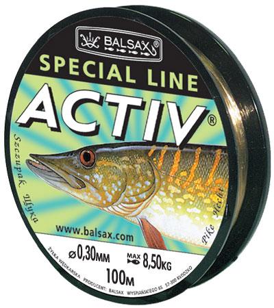 Леска BALSAX Aktiv Щука 100м 0,30 (8,5кг)Леска монофильная<br>Имеет высокую прочность, особо защищенную <br>поверхность, немного растягивается.<br><br>Сезон: лето