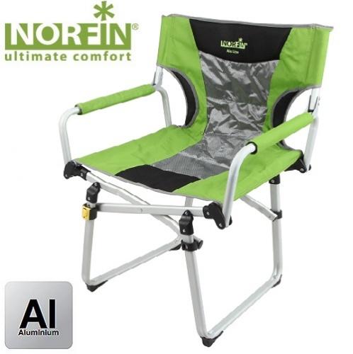 Кресло Складное Norfin Mikelli Nf AluСтулья, кресла<br>Складное кресло - прекрасный выбор для <br>ценящих комфорт рыбаков. Легко складывается <br>и переносится, в складном виде имеет ручку <br>для переноски. Особенности: - габариты 59х47х48/89 <br>см; - размер в сложенном виде 55x47x15 см; - максимальная <br>нагрузка 100 кг; - каркас алюминий ?22, 30*16 мм, <br>25*16 мм.<br><br>Сезон: лето<br>Цвет: зеленый<br>Материал: 600D(PVС)+400D(PU)