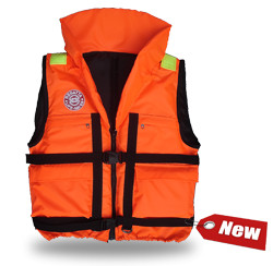 Жилет спасательный REGAТТA 120 (р. 58-64, 120 кг, Спасательные жилеты<br>Модель «REGATTA» - серьезно заявляет свои намерения <br>на спасение человеческой жизни на водах. <br>Более функциональный и эргономичный жилет <br>за счет изменения конструкции спинки и <br>проймы, которое позволило обеспечить наиболее <br>полное облегание тела владельца и усилило <br>надежность правильной фиксации этого жилета <br>при попадании человека в воду. В воде с помощью <br>элементов плавучести этот жилет перевернет <br>владельца в положение «лицом вверх» и удержит <br>под углом к горизонту так, чтобы обеспечить <br>безопасное положение головы над водой. <br>В комплект жилета входят регулировочные <br>ремни, светоотражающие полосы, карманы, <br>молния, свисток, паховая стропа, подголовник <br>с воротником. Карманы – вместе с двумя нагрудными <br>карманами на «молнии» на жилете «Regatta» появились <br>два удобных объемных боковых кармана с <br>клапаном на «липучке». Жилеты «Regatta» изготавливаются <br>следующих размеров (размер зависит от веса <br>человека) – 60 кг, 80 кг, 100 кг, 120 кг, 140 кг. 01 <br>Подголовник. Обязательное условие сертифицированного <br>спасательного жилета. Ткань Оxford 230D PU1000, <br>внутри которой находятся несколько многослойных <br>сегментов из вспененного полиэтилена. Высокий <br>подголовник такой конструкции хорошо держит <br>голову владельца на плаву и в тоже время <br>обладает достаточной гибкостью для складывания <br>жилета при транспортировке. 02 Элементы <br>плавучести, состоящие из набора НПЭ пластин <br>толщиной 8 мм каждая. Пластины на груди вшиты <br>между основной и подкладочной тканью и <br>обеспечивают на воде стабильное положение <br>на воде владельца «лицом вверх». 03 Лямка <br>выполнена из ременной ленты плотностью <br>от 16 г/м2 и является стягивающим элементом. <br>В зависимости от размера спасательного <br>жилета ее длина изменяется. Фиксируется <br>фастексами с достаточным запасом прочности <br>или посредством сдвоенных стальных полуко