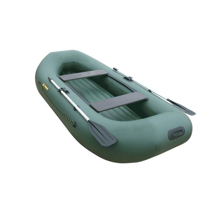 Лодка ПВХ Компакт-275 (над. дно) гребная Лодки гребные<br>Гребная надувная лодка Компакт 275 НДНД <br>—двухместная лодка с вклеенным НДНД - надувным <br>дном низкого давления . Преимущество лодок <br>с НДНД: - способность дна смягчать удары <br>мелких волн, снижая тем самым вибрации всего <br>корпуса лодки; - меньший вес относительно <br>фанерных или алюминиевых сланей; - простота <br>сборки; - теплоизоляция . Нос и корма лодки <br>приподняты, что позоволяет преодолевать <br>высокие волны. Широкий кокпит - ширина 66 <br>см и увеличенный диаметр борта позволит <br>ходить по горным рекам и преодолевать небольшие <br>перекаты. А так же удобно разместить все <br>дополнительное оборудование и 2 человек. <br>- Лодка «Компакт» состоит из одного замкнутого <br>баллона, разделенного перегородками на <br>2 отсека, что позволит лодке остаться на <br>плаву даже при случайном проколе баллона. <br>- Корпус лодки «Компакт» изготавливается <br>из 5-ти слойной ткани ПВХ корейского производства <br>MIRASOL, являющейся одной из лучших на рынке. <br>Используется ткань плотностью 750 г/м.кв. <br>Реальный срок службы лодки из ПВХ составляет <br>больше 15 лет. За счёт материала лодка подходит <br>для эксплуатации в различных условиях — <br>в тихих закрытых водоёмах, на волне или <br>порожистых реках, среди коряг и камышей. <br>Лодки из ПВХ не требуют специальной обработки <br>после использования и на период хранения. <br>- швы лодки соединены современным методом <br>«горячей сварки». Ткань соединяется встык, <br>с проклейкой с двух сторон лентами из основного <br>материала шириной 4 см на специальной машине. <br>Для склейки применяется клей на полиуретановой <br>основе, который, вступая в химический контакт <br>с материалом склеиваемых поверхностей, <br>соединяется с тканью на молекулярном уровне <br>и получается единое полотно. - раскрой материала <br>для лодок «Компакт» производится с использованием <br>современной вычислительной техники, в результате <br>чего человеческий фактор сведен