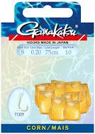 Крючок GAMAKATSU BKS-1130Y Corn 75см №12 d поводка 016 Одноподдевные<br>Оснащенный поводок для ловли на кукурузу, <br>длинной 75 см и диаметром сечения 0,16<br>