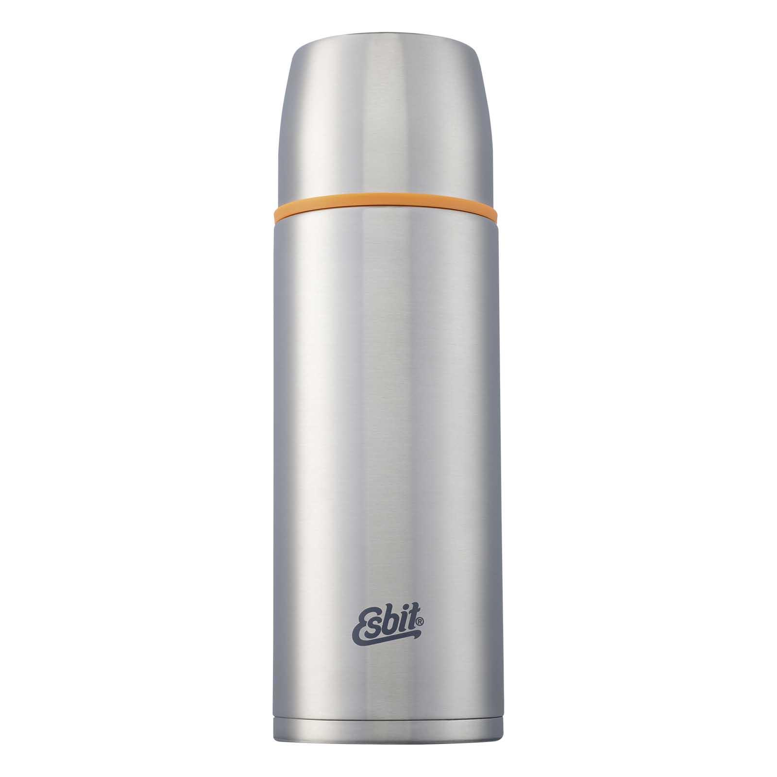 Термос Esbit ISO, новый дизайн, cтальной-оранжевый, Термосы<br>Описание термоса Esbit ISO: Термос из нержавеющей <br>стали с двумя чашками и дополнительной <br>пробкой. Удобно наливать напитки. Высококачественная <br>конструкция термоса сохраняет напитки <br>холодными / горячими длительное время. Особенности: <br>высококачественная нержавеющая сталь крышка <br>превращается в 2 чашки сохраняет напитки <br>холодными / горячими длительное время внутренний <br>пробка с возможностью наливания жидкости <br>удобно мыть дополнительная пробка с резьбой <br>Характеристики: При температуре воды ~ 95° <br>C и температуре окружающей среды ~ 20° C ± <br>2° с температура напитка: Через 6 ч: ~ 80° C <br>Через 12 ч: ~ 65° C Через 24 ч: ~ 50° C Технические <br>характеристики: Материал: нержавеющая сталь <br>Размер: 273 х ? 90 мм Вес: 537 г Объем: 1000 мл<br>