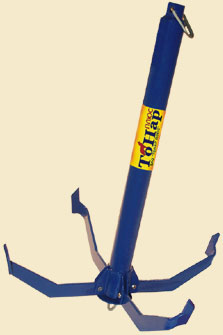 Якорь Кошка большой (ЯЛС 02) 2,5кгЯкоря и якорные концы<br>Якорь лодочный складной предназначен для <br>удержания лодок на месте стоянки. Основным <br>преимуществом данной конструкции является <br>возможность складывать лапки якоря, что <br>значительно уменьшает его габариты и обеспечивает <br>безопасность при транспортировке. Наличие <br>кольца для страховочной веревки убережет <br>якорь от зацепа или обрыва каната. Покрытие <br>поверхности якоря полимерное.<br>