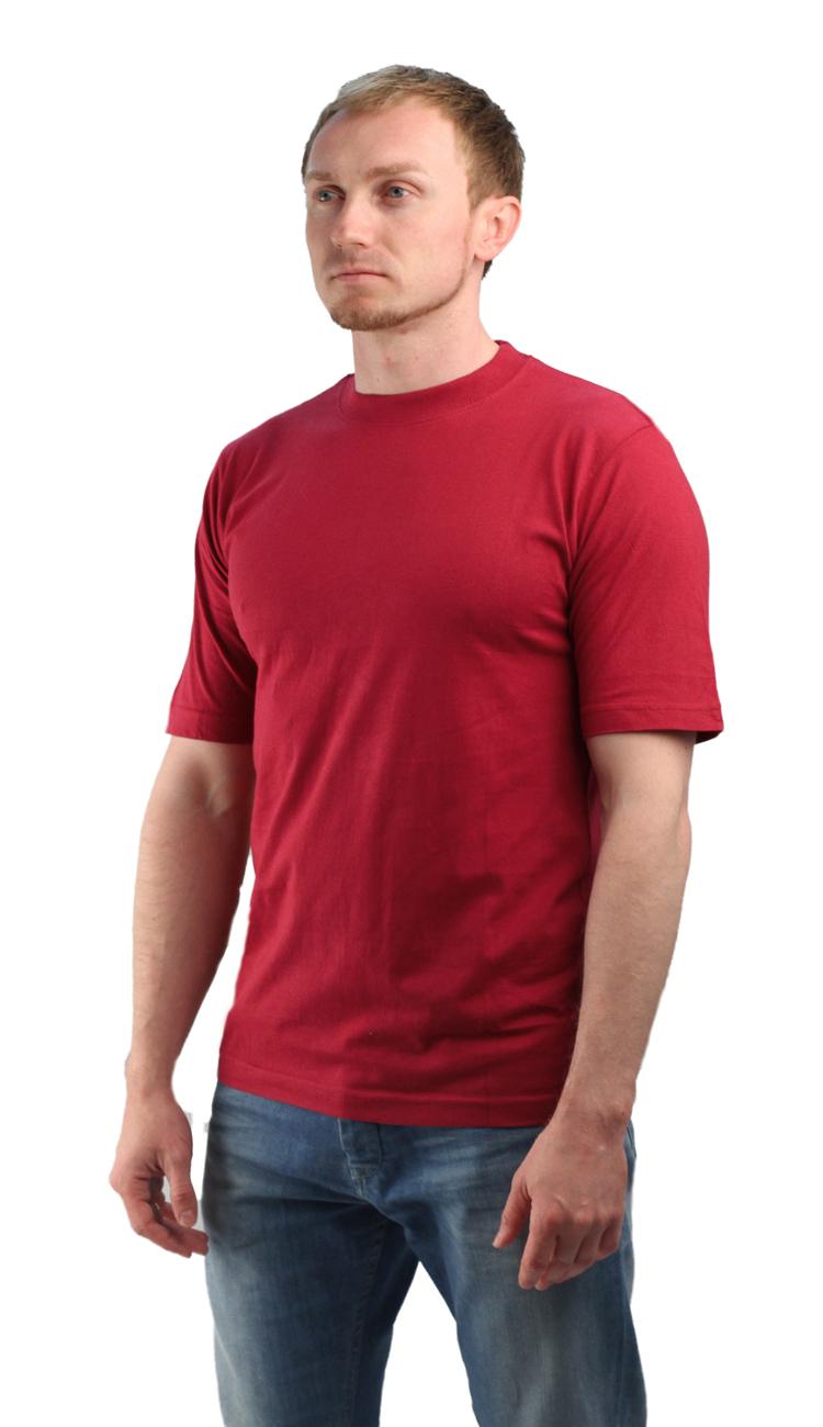 Футболка бордовая (XL)Футболки к/рукав<br>Классическая футболка из мягкого эластичного <br>трикотажа. - прямой силуэт - короткий рукав <br>- круглый вырез горловины Размеры: M-XXXL<br><br>Пол: мужской<br>Размер: XL<br>Сезон: все сезоны<br>Цвет: бордовый<br>Материал: хлопок
