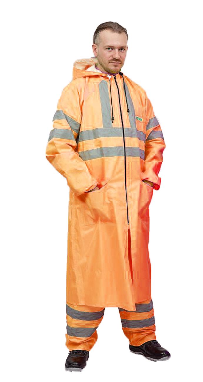 WATERPROOFLine Плащ сигнальный/«Extra Vision WPL» нейлоновый оранжевый ПЛА209-460