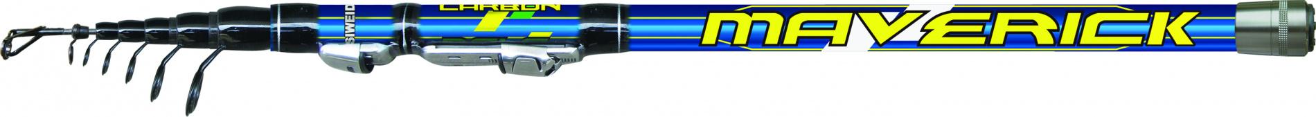 Удилище тел. SWD MAVERICK 3,6м с/к карбон IM8 (EVA Удилища поплавочные<br>Компактное болонское удилище серии MAVERICK <br>длиной 3,6м очень удобно при транспортировке <br>благодаря длине в собранном состоянии всего <br>50см. Выполнено из высокомодульного графита <br>IM8. Комплектуется легкими высококачественными <br>кольцами SIC на высоких ножках и быстродействующим <br>катушкодержателем Clip Up. Несмотря на большое <br>количество секций, обладает высокой надежностью <br>и жестким строем, характерным для удилищ <br>стандартного размера. Позволяет делать <br>заброс оснастки на большие расстояния благодаря <br>отличному быстрому строю.<br>