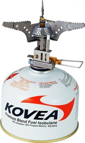 Горелка газовая Kovea титановая KB-0101 88 гр.Горелки<br>Внимание – ТИТАН! Газовая горелка с пъезоподжигом, <br>очень легкая и компактная, из титана. Разработана <br>специально для людей, которые экономят <br>на весе и объеме. Благодаря наличию пъезоподжига <br>и соотношению цены и качества это лучшая <br>горелка для экстремальных условий в горах, <br>на сплаве, в сложных велопоходах и везде, <br>где экономится объем и вес. Горелка работает <br>от баллона резьбового стандарта, но возможно <br>и подсоединение к цанговому баллону при <br>помощи адаптера со шлангом Cobra. Модель KB-0101 <br>Вес 94 г Расход топлива 140 г/ч Размер упаковки <br>81x67x38 мм Диаметр конфорки 12 см Пъезоэлемент <br>есть Комплектация Газовая горелка, пластиковый <br>кофр, инструкция по эксплуатации.<br>