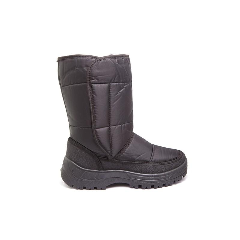 Сапоги женские утепленные Дутики на искусственном Сапоги для активного отдыха<br>Конструкция верха полусапог с боковой <br>застежкой типа «велькро» дает возможность <br>регулировки объема и ширины голенища. Непромокаемость, <br>легкость верха и гибкость подошвы обеспечивают <br>дополнительный комфорт носки и увеличивают <br>время непрерывного использования обуви.<br><br>Пол: женский<br>Размер: 40<br>Сезон: зима<br>Цвет: черный