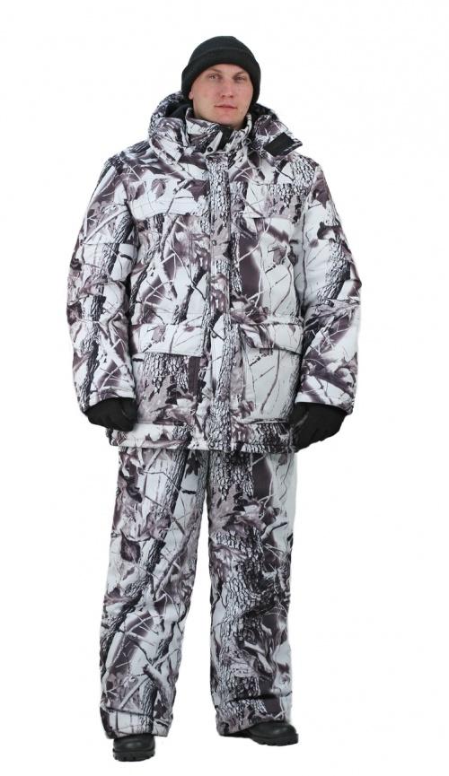 Костюм мужской Вепрь зимний кмф алова Костюмы утепленные<br>Камуфлированный универсальный костюм <br>для охоты, рыбалки и активного отдыха при <br>низких температурах. Состоит из удлиненной <br>куртки и полукомбинезона. Куртка: • Центральная <br>застежка на молнии с ветрозащитной планкой <br>на кнопках. • Отстегивающийся и регулируемый <br>капюшон. • Регулируемая кулиса по линии <br>талии. • Нижние и верхние многофункциональные <br>накладные карманы с клапанами на контактной <br>ленте и на молнии. • Усиление в области <br>локтей. • Трикотажные манжеты по низу рукавов. <br>Полукомбинезон: • Высокая грудка и спинка. <br>• Центральная застежка на молнию. • Талия <br>регулируется эластичной лентой. • Регулируемые <br>бретели, • Верхние боковые карманы<br><br>Пол: мужской<br>Размер: 48-50<br>Рост: 170-176<br>Сезон: зима<br>Цвет: зимний дубок (фотокамуфляж)<br>Материал: Алова 100% полиэстер