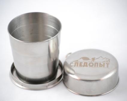 Стакан походный складной бол. СЛЕДОПЫТ Кружки, стаканы<br>Тип: стакан Материал: нержавеющая сталь <br>Производитель: Следопыт Объем: 250мл<br>