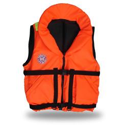 Жилет спасательный HUNTER 140 (р. 66-68, 140 кг, оранжевый)Спасательные жилеты<br>Предназначен для людей ведущих активный <br>образ жизни на воде, рыбаков и охотников. <br>Комплектуется свистком и светоотражающими <br>лентами. Есть отдельный карман для хранения <br>паховой стропы, новые, увеличенные в объеме, <br>наружные скошенные карманы на «липучках». <br>Низ жилета стал более «собран» для придания <br>ему лучшей формы. В комплект жилета входят <br>регулировочные ремни, светоотражающие <br>полосы, карманы, молния, свисток, паховая <br>стропа, воротник. Это самая бюджетная модель <br>наших размерных жилетов, но функционально <br>«Hunter» не подведет своего владельца при <br>попадании в воду. В воде, с помощью элементов <br>плавучести, «Hunter» перевернет владельца <br>в положение «лицом вверх» и удержит под <br>углом к горизонту так, чтобы обеспечить <br>безопасное положение головы над водой. <br>Размер жилетов указан в названии и зависит <br>от массы тела (например, Хантер 60) и подойдет <br>подросткам и взрослым, вес которых находится <br>в пределах от 60 до 140 кг. Цвет жилета – ярко-оранжевый. <br>Особенности конструкции спасательного <br>жилета «Хантер»: 01 Подголовник. Обязательное <br>условие сертифицированного спасательного <br>жилета. Ткань Оxford 230D PU1000, внутри которой <br>находятся несколько многослойных сегментов <br>из вспененного полиэтилена. Высокий подголовник <br>такой конструкции хорошо держит голову <br>владельца на плаву и в тоже время обладает <br>достаточной гибкостью для складывания <br>жилета при транспортировке. 02 Элементы <br>плавучести, состоящие из набора НПЭ пластин <br>толщиной 8мм каждая. Пластины на груди вшиты <br>между основной и подкладочной тканью и <br>обеспечивают на воде стабильное положение <br>на воде владельца «лицом вверх». 03 Лямка <br>выполнена из ременной ленты плотностью <br>от 16 г/м2 и является стягивающим элементом. <br>В зависимости от размера спасательного <br>жилета ее длина изменяется. Фиксируется <br>фас