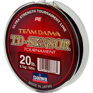 Леска Daiwa TD Sensonar Tournament 20-150 / BlackЛеска плетеная<br>Леска плетеная Daiwa TD Sensonar Tournament - высококачественные <br>восьмижильные плетеные шнуры от японской <br>фирмы Daiwa изготавливается из высококачественного <br>материала PE с применением передовой технологии <br>Tight Pitch, благодаря которой нить имеет более <br>пл...<br>