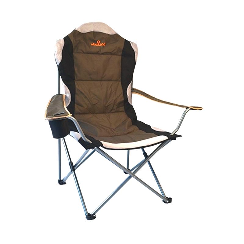 Кресло Woodland Deluxe, складное, кемпинговое, Стулья, кресла<br>Материалы: Сталь ? 18 мм. Oxford 600D Размер: 63 <br>x 63 x 110 см. Вес: 3,6 кг. Компактная складная <br>конструкция. Прочный стальной каркас, диаметром <br>18 мм, с покрытием. Удобные подлокотники <br>с отделением для напитка. Водоотталкивающее <br>ПВХ покрытие ткани Oxford 600D. Максимально допустимая <br>нагрузка 120 кг. В комплекте чехол для перевозки.<br>