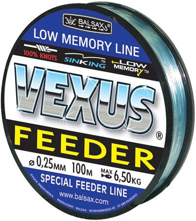 Леска BALSAX Vexus Feeder(Kevlon) 100м 0,25 (6,5кг)Леска монофильная<br>Леска Vexus Feeder (Kevlon) - прочность в местах <br>вязки узлов, высокая сопротивляемость истиранию, <br>малая восприимчивость к ультрафиолетовому <br>излучению, быстрота и легкость погружения <br>- преимущества, необходимые для успешного <br>применения на рыбалке.<br><br>Сезон: лето