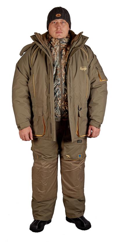 Комплект рыболовный зимний YUKON (куртка+брюки)Костюмы утепленные<br>Комплект рыболовный зимний YUKON (куртка+брюки)<br><br>Пол: мужской<br>Размер: L<br>Сезон: зима<br>Цвет: оливковый