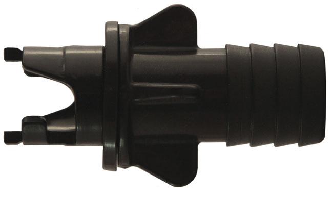 Переходник клапана для лодок Компакт, Тайга Ремкомплекты и принадлежности<br>Адаптер байонетного типа, который одевается <br>непосредственно на шланг большинства моделей <br>насосов .<br>