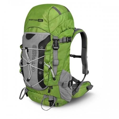 Рюкзак Trimm Adventure RAPTOR II, 45 л (зеленый, черный) Рюкзаки<br>Описание рюкзака Trimm Adventure RAPTOR II, 45 л: Технические <br>характеристики: - Материал: 100% полиэстер <br>500 D, PU coating, Rip-stop texture - Фурнитура: Nifco - Объем: <br>45 л - Вес: 1200 г Особенности: - отделение для <br>питьевой системы - система вентиляции спинки <br>- петли для ледорубов - дождевик - нагрудная <br>стяжка<br>