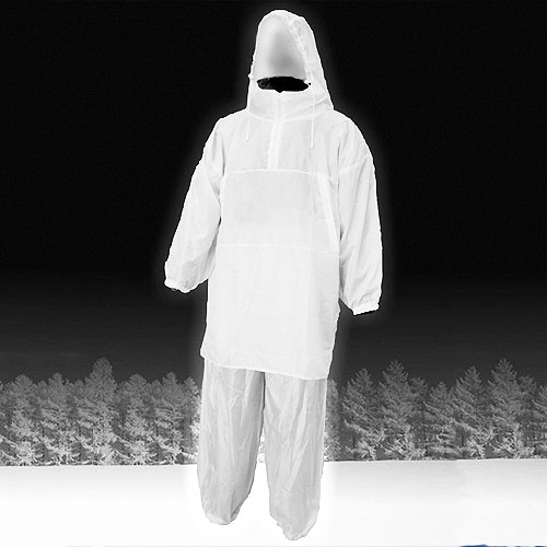 Костюм Маскировочный Метель Белый (58-64, Костюмы маскировочные<br>Костюм маскировочный МЕТЕЛЬ белый, разм.60-62/мат.бязь/цв.белый <br>Зимний маскировочный костюм Метель для <br>зимней охоты. Одевается поверх зимней утепленной <br>одежды. Предназначен для маскировки в зимнем <br>лесу, на заснеженном поле. В нем вы не будете <br>цепляться за ветки деревьев. Изготовлен <br>из материала бязь с водотталкивающей пропиткой. <br>-не бликует на солнце -позволяет охотнику <br>полностью слиться с окружающей местностью <br>-не шуршит на морозе Цвет- белый Особенности <br>модели: -куртка анорак с молнией до середины <br>груди -куртка имеет прорези для доступа <br>в карманы зимней одежды -капюшон стягивается <br>шнуром с фиксатором -резинка по поясу и <br>низу брюк<br><br>Пол: мужской<br>Размер: 58-64<br>Сезон: зима<br>Цвет: белый
