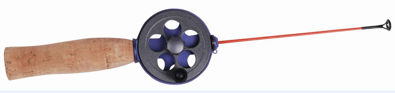Удочка зимняя SWD HR803A (d 57мм, ручка пробк. Удочки зимние<br>Зимняя удочка SWD с открытой катушкой диаметром <br>57мм выполнена в скандинавском стиле. Карбоновый <br>хлыст длиной 14см укомплектован тюльпаном. <br>Ручка из пробки длиной 100мм.<br>