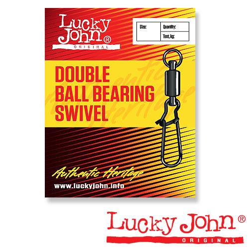 Вертлюги C Застежкой И Подш. Lucky John Double Ball Bearing And Fastlock 005 3Шт. LJ5012-005